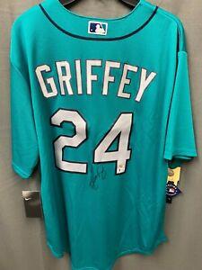 Ken Griffey Jr. #24 Signed Mariners NIKE Jersey Autographed AUTO BAS COA Sz XL