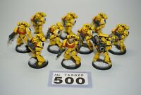 Warhammer 40k Space Marine Imperial Fists Tactical Squad x 10 Painted LOT 500