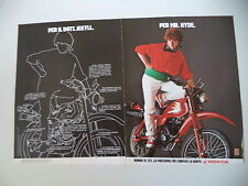 advertising Pubblicità 1982 MOTO HONDA XL 125