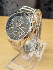 New Hugo Boss 1513473 Grand Prix Silver Chronograph Men's Watch