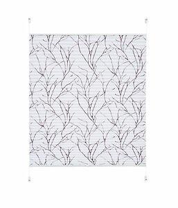 Klemmfix Plissee Dondo Weiß grau farben gemustert Lichtschutz 40 - 120 cm breit