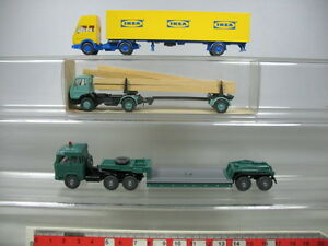 AB276-0,5# 3x Wiking H0 LKW: Mercedes MB Ikea+Langholz, Magirus, TOP+1x OVP