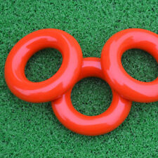 2Pcs Golf Weight Ring Red Round Weight Power Swing Ring for Golf Clubs Warm up