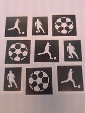 Football glitter tattoo stencils   Euros 2016    Wales  Ireland England  France