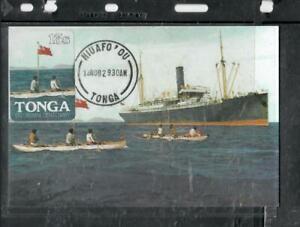TONGA COVER (P0208B) 1982 PPC SHIP CARD 13S  TIN CAN MAIL NOT SENT