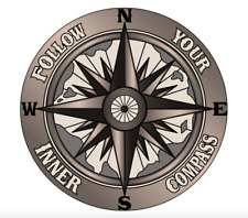 Follow Your Inner Compass Car Fuel Gas Tank Sticker Motorbike Laptop Truck Decal