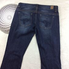 Guess Daredevil Womens Low Rise Jeans Distressed Dark Wash Stretch Size 29