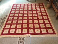 Gorgeous Redwork Vintage Quilt