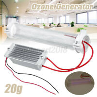 20g/h Ozone Generator Ozonator Ionizer Tube Home Office Air Purifier Clean
