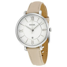 Fossil Jacqueline White Dial Ladies Leather Watch ES3793