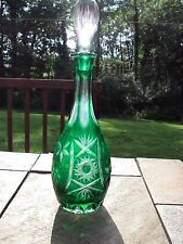 Quality Ajka Marsal Green Cut to Clear  Decanter