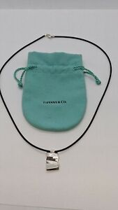 """Tiffany & Co. Sterling Silver Frank Gehry Fold Pendant Necklace 20"""""""