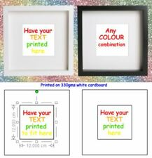 Printed Artwork for IKEA RIBBA BOX FRAME - Printed TEXT insert for PHOTO FRAME