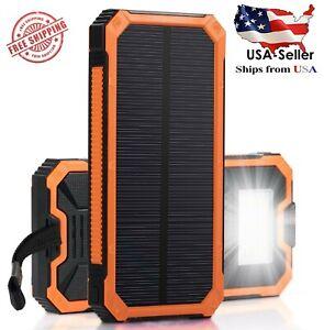 2020 Waterproof Solar Power Bank 900000mah Portable External Battery Charger- US