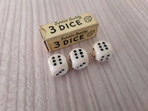 Vintage boxed superior quality 3 Dice