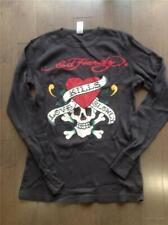 Ed Hardy Brown Thermal Long Sleeve Skull Shirt Size Xl Love Kills Slowly Euc