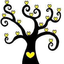 New Listing30 Custom Yellow Heart Tree Personalized Address Labels