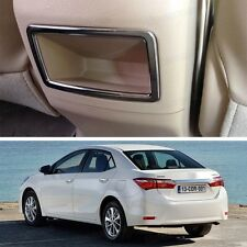 New Chrome Storage Box Behind Cover Trim Fit for Toyota Corolla 2014