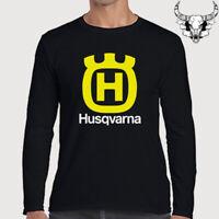 Husqvarna Motorcycle Racing Sport Logo T Shirt