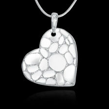 Love Pendant Woman Necklace N-A592 Gift Elegant 925 Sterling Silver Filled Heart