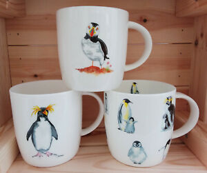 Roy Kirkham, Fine Bone China, Penguin or Puffin, Coffee / Tea Mug - New