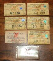 FOE Fraternal Order Of The Eagles Registration Cards 1947-1951 (6)