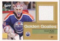 01-02 Upper Deck Vintage Grant Fuhr Jersey Golden Goalies Oilers 2001