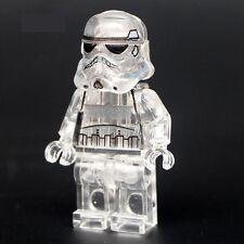 Star Wars Minifigure Starwars Custom Transparent Crystal Stormtrooper  fits lego