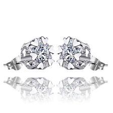 18K Gold Plated CZ Snowflake Stud Butterfly Elegant Earrings Women Jewelry Gifts