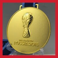 REPLIQUE MÉDAILLE OR RUSSIE 2018 FOOTBALL COUPE DU MONDE ÉQUIPE FRANCE MBAPPE