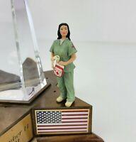 Department 56 9/11 Memorial American Pride Nurse Hero Figurine w/ Blood