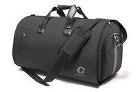 Foldable Travel Garment Bag Luggage Weekender Duffle 2in1 Suit Dark Gray