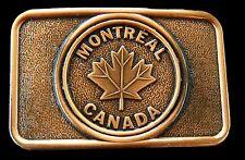 Canada Montreal Maple Leaf Ice Hockey Flag Belt Buckle Boucle de Ceinture