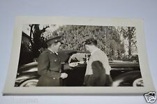 "WOW Old Vintage US Military Dad Giving Son Keys To Car 4"" x 3"" Photograph RARE"