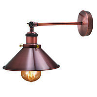 Modern Retro Vintage Industrial Wall Light Adjustable Rustic Sconce Lamp Fixture