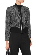 "SANDRO PARIS FEMME ""VIVIANNE"" b&w Tweed Jacquard Blazer Jacket * FR 36/UK 8 *"