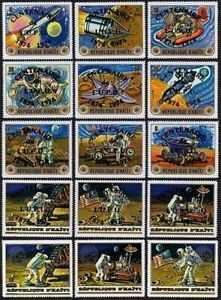 Haiti 668 note 2,15 stamps,MNH. Space Exploration USA-USSR for UPU-100,Apollo 17
