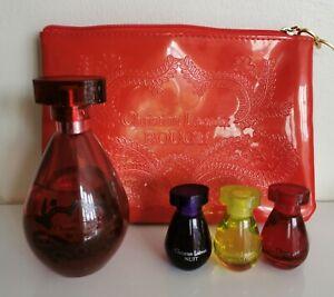 Christian Lacroix Perfume and make up bag set.