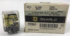 SQUARE D 8501 RS4V14 MINIATURE G.P. RELAY, 24V 50-60HZ, SERIES B, *NEW*