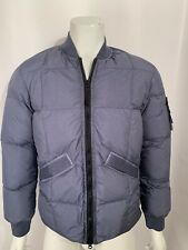2019 STONE ISLAND BLUE/GREY CRINKLE REPS NY DOWN JACKET SMALL 711540423 RRP £675