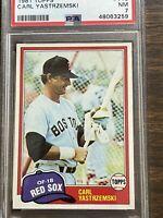 1981 Topps Carl Yastrzemski #110 Baseball Card PSA Near Mint 7 Boston Red Sox HF