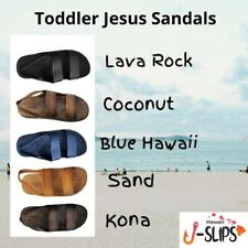 Toddlers J-Slips Hawaiian Jesus Sandals w/ Back Strap in 5 Colors