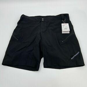Bontrager Mens Flat Front Semi Fitted Evoke Mountain Black Bike Shorts Size 2XL