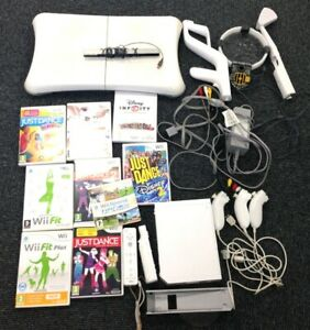 Genuine Nintendo Wii Bundle Console Balance Board Games Nunchucks Accessories