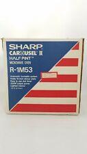 Sharp Half Pint Carousel II R-1M53 Compact Microwave Oven .5 CU FT 120V 8A 5.D4
