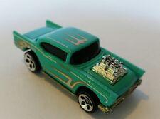 "Vintage Hot Wheels '57 Chevy - Turquoise ""Custom Rod"" - Mattel 1976"