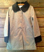 Livity Hemp and Recycled Bottle Women's Coat with Organic Cotton Vegan Fur NWT