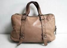 Liebeskin Berlin Leather Tote Shoulder Bag Beige Satchel