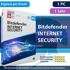 Bitdefender Internet Security 2021 Windows 1 PC - 1 Jahr - Aktivierungscode