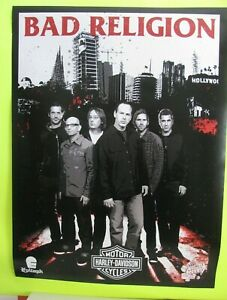 "2007 Bad Religion Warped Tour 24"" x 18"" Poster with Harley Davidson Logo -New"